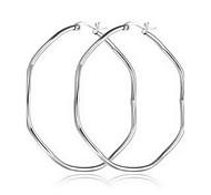 Earring Geometric Jewelry Women Fashion Daily / Casual Titanium Steel 1 pair Silver