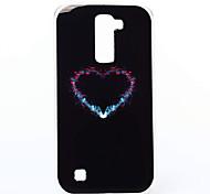Para Funda LG Diseños Funda Cubierta Trasera Funda Corazón Suave TPU LG LG K10 / LG K7
