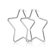 Earring Star Jewelry Women Fashion Daily / Casual Titanium Steel 1 pair Silver