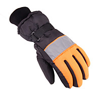 Winter Gloves Unisex Keep Warm Ski & Snowboard Gray / Blue / Orange Canvas Free Size-Others