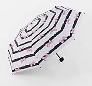 Small Fresh Navy Striped Sun Umbrella Vinyl Umbrellas Uv Sun Umbrella Folded Umbrella Sunny