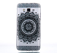 TPU Material Black Bilateral Flower Pattern Cellphone Case for Samsung Galaxy J710/J510/J5/J310/G530/G360