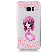 TPU Material Little Girl Pattern Painted Relief Phone Case for Samsung Galaxy S7 Edge/S7/S6 Edge/S6/S5
