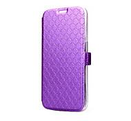 Teléfono Móvil Samsung - Fundas con Soporte - Color Sólido - para Samsung Samsung Galaxy S6 (Negro/Blanco/Azul/Púrpura/Rosa/Dorado/Orange , Cuero PU