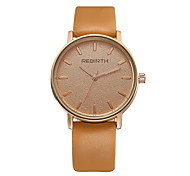 REBIRTH Unisex Women's/Men's Simple Fashion Dial PU Leather Strap Quartz Wrist Watch