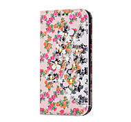 Rhinestone Bling Leather Case For Motorola G4/G3/G4 Play/X Play  Flip Cover Print Flower