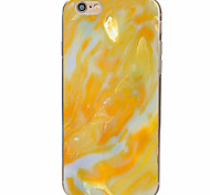 Yellow Marble Pattern Material TPU Phone Case for iPhone 7 7 Plus 6s 6 Plus SE 5s 5