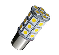 10X Warm White 1156 BA15S 27SMD 5050 LED Light RV Camper Car Backup 7506
