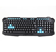 UN2F Multimedia Gaming Keyboard Gamer USB Wired Game Keyboard for Computer Mac PC