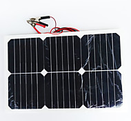 zdm® 20w pannello solare 1.35A silicio monocristallino 12v uscita (DC12-18V)