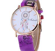 Women's Fashion Watch / Wrist watch Quartz / PU Band Cool / Casual Black / White / Blue / Red / Brown / Grey / Pink / Purple Brand