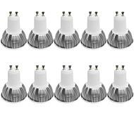 3W GU10 Focos LED MR16 1 COB 380LM lm Blanco Cálido / Blanco Fresco Regulable / Decorativa AC 100-240 / AC 110-130 V 10 piezas