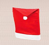 Natal, Santa 1pc universal cadeira boné vermelho tabela tampa decoração home jantar