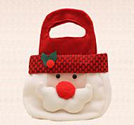 1pc mignon tête de père noël partie bonbons sac de bonbons décoration de vacances cadeau main noël
