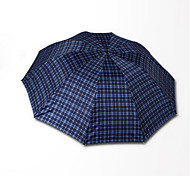The New 3309E Grid 10 To Increase Bone Trio Umbrella Umbrella A Drying Polyester Men'S Business Umbrella