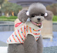 Dog Hoodie Pink Winter / Spring/Fall Stripe Cosplay / Keep Warm, Dog Clothes / Dog Clothing