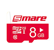 Smare 8 GB Class 10 Micro SD  TF Flash Memory Card High Speed Genuine Read Speed: 80MB/s Waterproof