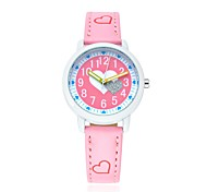 Kids' Sport Watch Casual Watch / Quartz Japanese Quartz Leather Band Cartoon Heart shape Casual White Blue Red Pink Purple