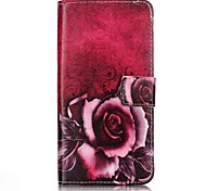 Full Body Card Holder / Wallet / Flip  Rose Flower PU Leather Hard Case Cover For Apple iPhone 7 / iPhone 7 Plus