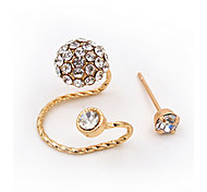 Gold/Silver Rhinestone Flower Ear Cuff Clip-on Earrings (1 PC)