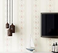 Цветочные / геометрический Обои Для дома Современный Облицовка стен , Нетканая бумага материал Клей требуется обои , номер Wallcovering