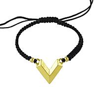 Adjustable Black Braided Rope Bracelet