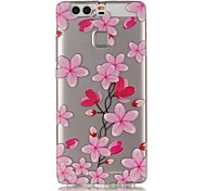 Rose Petals 3D Relief Feeling Super Soft Pack Transparent TPU Phone Case for Huawei P9
