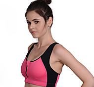 Women's Sleeveless Running Compression Clothing Breathable Quick Dry Front Zipper Compression Sweat-wicking ShockproofSpring Summer