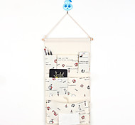 Six Pockets Behind The Door Ocean Series Home Furnishing With Tissue Box Storage Bag