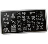 Nail Art Stamping Plate Стампер скреперов 12*6cm