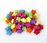 beadia surtido de perlas de colores acrílicos forma de la flor de plástico de 10 mm granos del espaciador sueltas (50 g / aprox 160pcs)