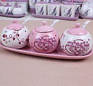 Ceramic Dressing Pots   Pink