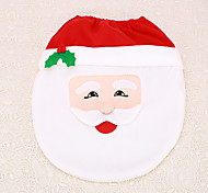 1pc Christmas Santa Claus Decoration Bathroom Toilet Cover Seat Indoor Home Supplies