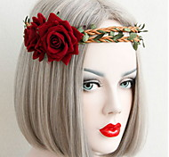 Halloween Beautiful Rose Flower Wreaths Headband for Lady Wedding Party Holiday Hair Jewelry