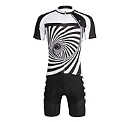 PaladinSport Men 's Cycyling Jersey + Shorts Suit DT652 Whirlpool  100% Polyester