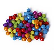 beadia perlas sueltas clasificado color granos de acrílico de 14 mm de plástico distanciadores (50 g / aprox 85pcs)