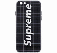 Full Body Shockproof /  Embossed / Pattern Word02/Phrase TPU Soft Embossed Case Cover For iPhone 6/6s/6plus/6s plus