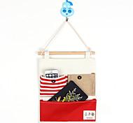 Três bolsos de trás do saco de armazenamento estilo navy porta