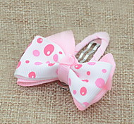 Women's Flower Girl's Fabric Bow Hair Clip