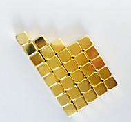 Toys Magnet Toys 50Pcs 5*5*5mm Executive Toys Puzzle Cube DIY Toys Magnetic Balls Gold Education Toys For Gift