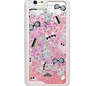 Accessory Back Flowing Quicksand Liquid/Printing Pattern PC Hard Case Fundas For iPhone 6s Plus/6 Plus/6s/6/SE/5s/5