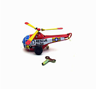 The Helicopter Wind-up Toy Leisure Hobby  Metal Red For Kids