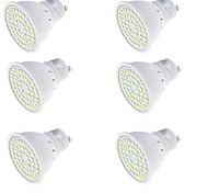 3 GU10 Lâmpadas de Foco de LED MR16 48 SMD 2835 250 lm Branco Quente / Branco Frio Decorativa AC 220-240 V 6 pçs