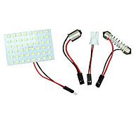 10x Girlande T10 BA9S weiße LED 48smd Panel-Innenhaube Karte Glühlampe-Lampe 12V