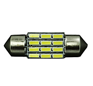 "10 x Pure White High Power 31mm 1.22"" Festoon Car LED Light 12V DE3175 3022 3021"