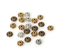beadia 50шт античное золото&Серебряный&латунь 6x4mm металлическую распорку свободные шарики