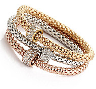 Fashionable Diamond Shambhala Charm Alloy Bracelets 1set
