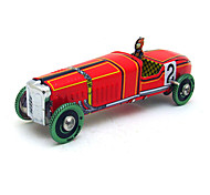 Tthe Car Wind-up Toy Leisure Hobby  Metal Red For Kids