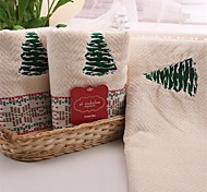 3 Pcs Full Cotton Bath Towel Set Super Soft Christmas Trees Pattern Strong Water Absorption Capacity
