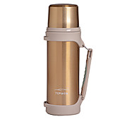 Travel Mug / Cup / Water Bottle for Travel Drink & Eat Ware Stainless Steel Rubber-Silver Blue Golden